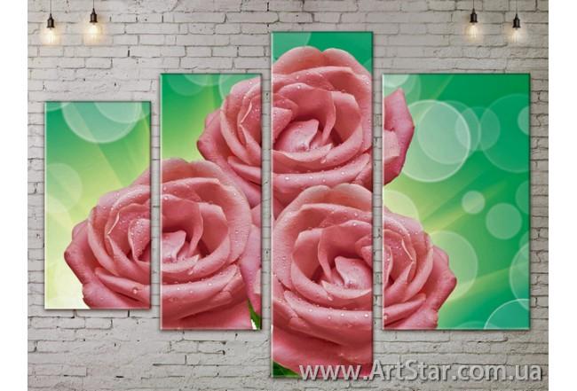 Модульные Картины, Цветы, Art. FLOW777338