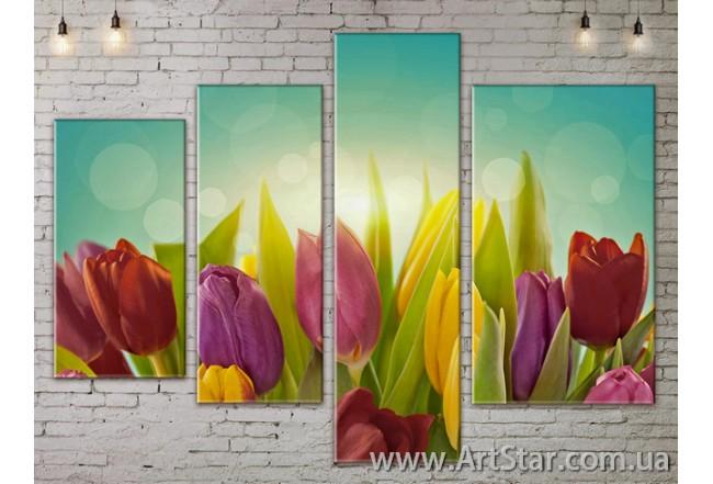 Модульные Картины, Цветы, Art. FLOW777342