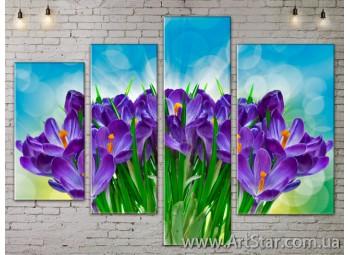 Модульные Картины, Цветы, Art. FLOW777348