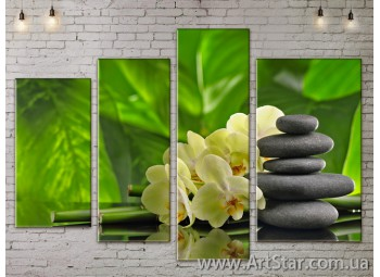 Модульные Картины, Цветы, Art. FLOW777372