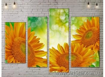 Модульные Картины, Цветы, Art. FLOW777384