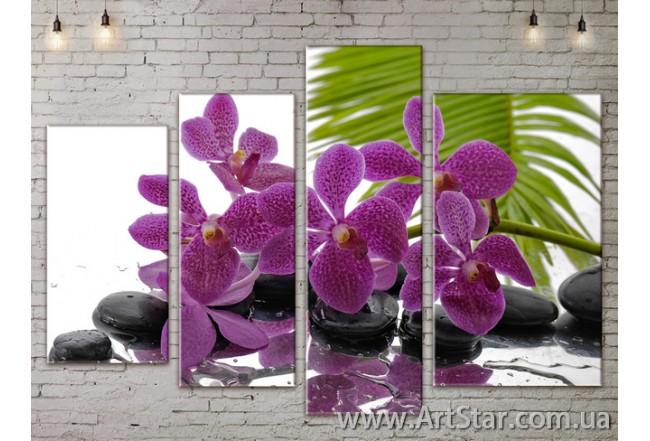 Модульные Картины, Цветы, Art. FLOW777386
