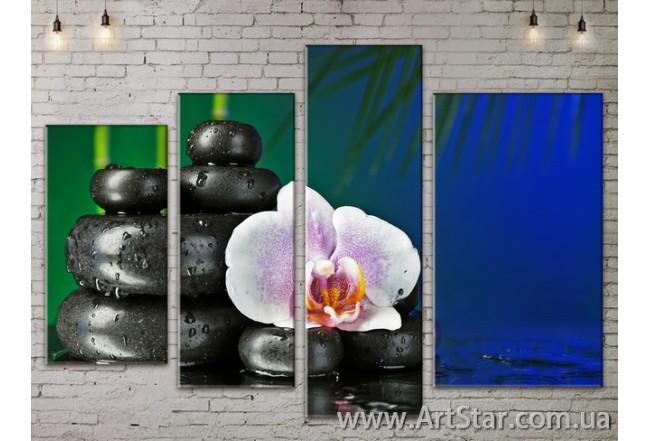 Модульные Картины, Цветы, Art. FLOW777398