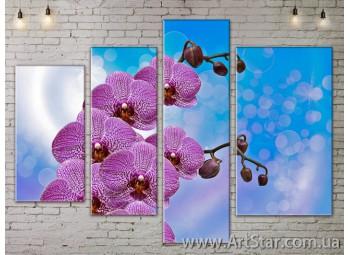 Модульные Картины, Цветы, Art. FLOW777406
