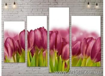 Модульные Картины, Цветы, Art. FLOW777418