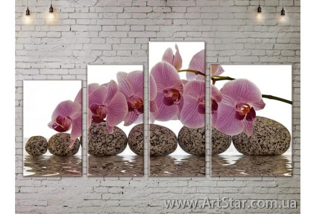 Модульные Картины, Цветы, Art. FLOW777422