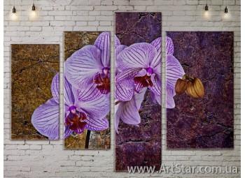 Модульные Картины, Цветы, Art. FLOW777450