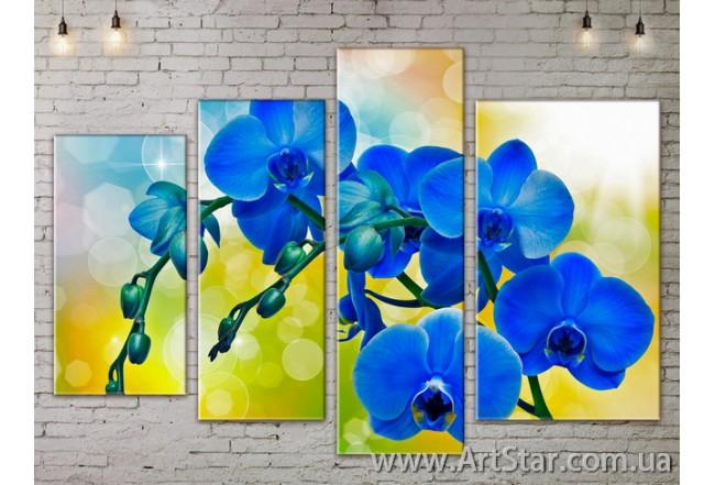 Модульные Картины, Цветы, Art. FLOW777452