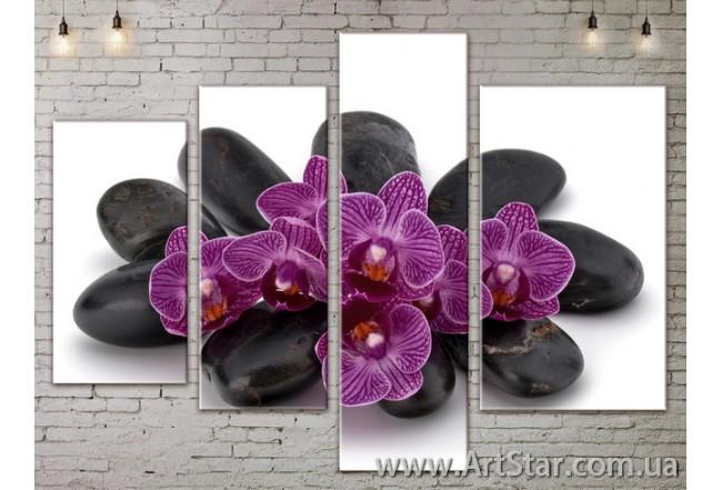 Модульные Картины, Цветы, Art. FLOW777460