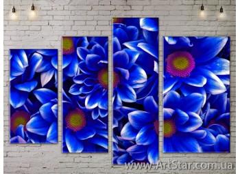 Модульные Картины, Цветы, Art. FLOW777466