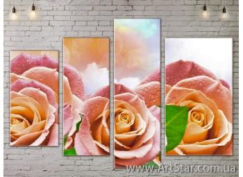 Модульные Картины, Цветы, Art. FLOW777476