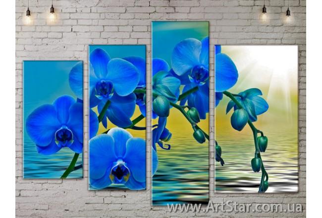 Модульные Картины, Цветы, Art. FLOW777486