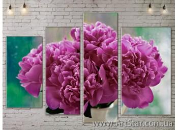 Модульные Картины, Цветы, Art. FLOW777492