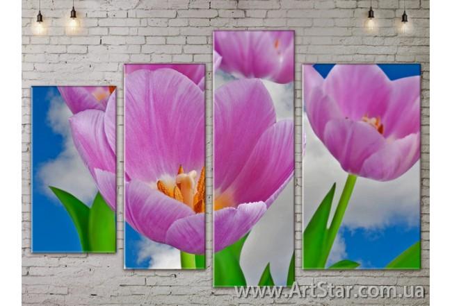 Модульные Картины, Цветы, Art. FLOW777494