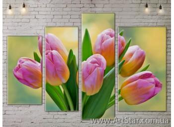 Модульные Картины, Цветы, Art. FLOW777518