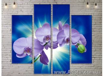 Модульные Картины, Цветы, Art. FLOW777526