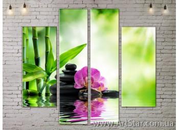 Модульные Картины, Цветы, Art. FLOW777540