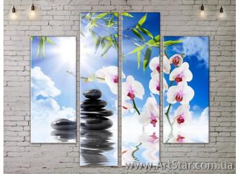 Модульные Картины, Цветы, Art. FLOW777542
