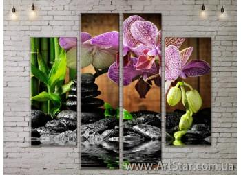 Модульные Картины, Цветы, Art. FLOW777546