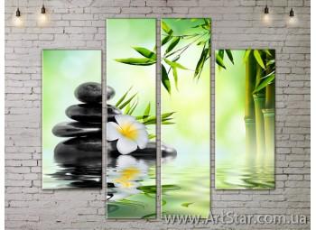Модульные Картины, Цветы, Art. FLOW777550
