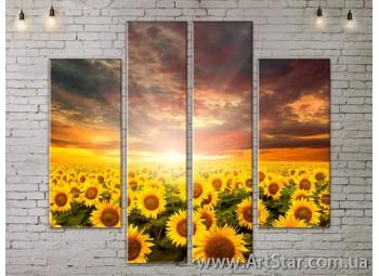 Модульные Картины, Цветы, Art. FLOW777562