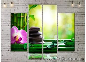 Модульные Картины, Цветы, Art. FLOW777564