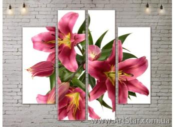 Модульные Картины, Цветы, Art. FLOW777566