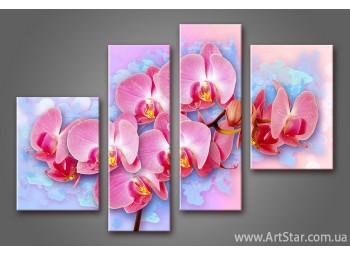 Модульная картина Цветы Орхидеи (4)