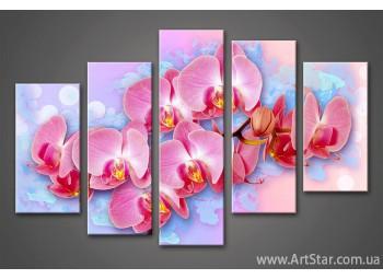 Модульная картина Цветы Орхидеи (5)