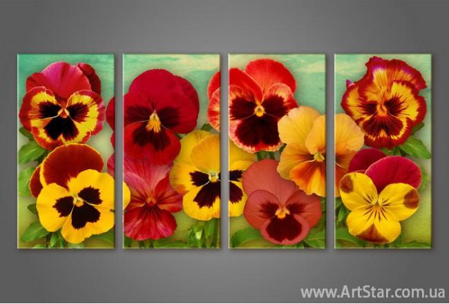 Модульная картина Цветы (4) 3