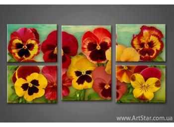 Модульная картина Цветы (5) 3