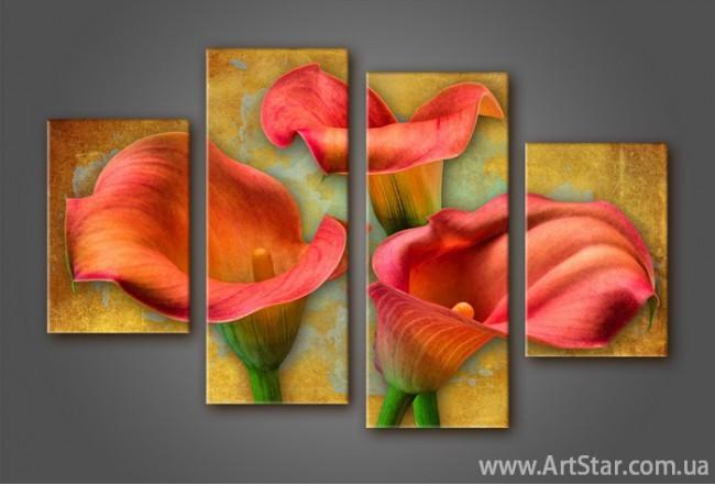 Модульная картина Цветы Каллы (4)
