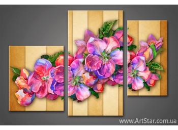 Модульная картина Цветы 4