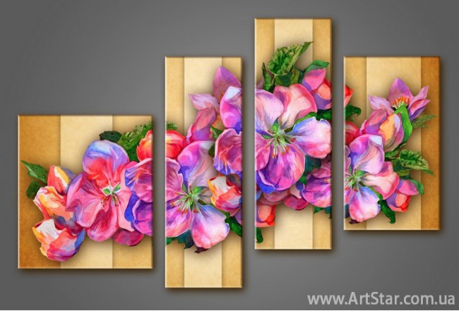 Модульная картина Цветы (4) 5