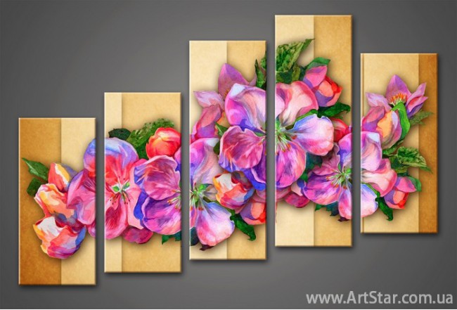Модульная картина Цветы (5) 5