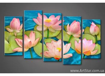 Модульная картина Цветы Кувшинки (5)