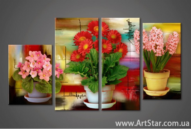 Модульная картина Цветы (4) 6
