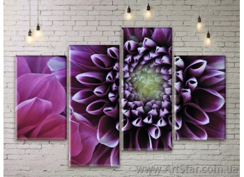 Модульные Картины Цветы, Art. FLWM0011