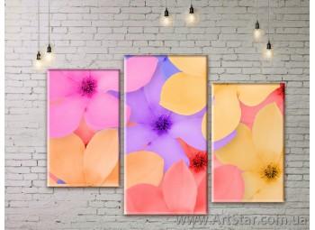 Модульные Картины Цветы, Art. FLWM0021