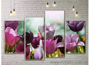 Модульные Картины Цветы, Art. FLWM0041