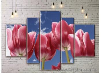Модульные Картины Цветы, Art. FLWM0043