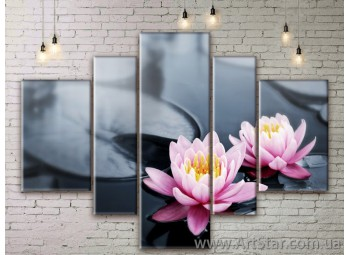 Модульные Картины Цветы, Art. FLWM0049