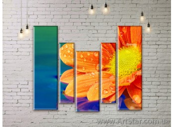 Модульные Картины Цветы, Art. FLWM0059