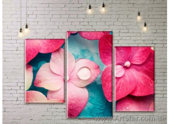 Модульные Картины Цветы, Art. FLWM0063