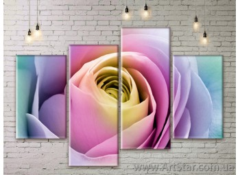 Модульные Картины Цветы, Art. FLWM0077