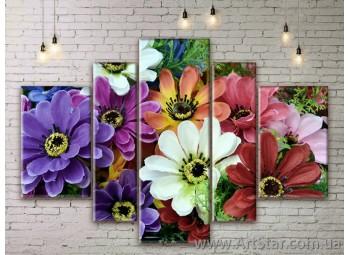 Модульные Картины Цветы, Art. FLWM0097