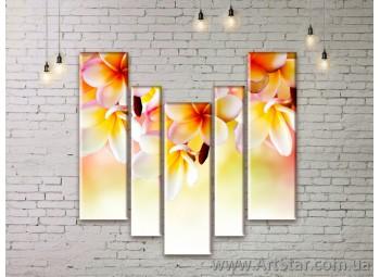 Модульные Картины Цветы, Art. FLWM0143