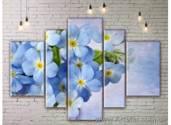 Модульные Картины Цветы, Art. FLWM0145