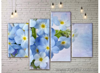 Модульные Картины Цветы, Art. FLWM0149