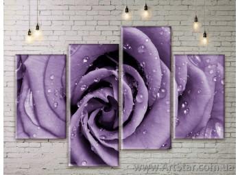 Модульные Картины Цветы, Art. FLWM0155
